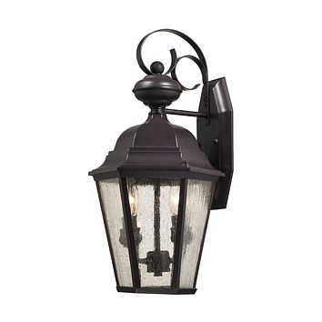 Cotswold 2 Light Outdoor Wall Sconce In Oil Rubbed Bronze