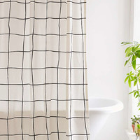 Wonky Grid Shower Curtain   Urban Outfitters