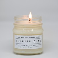 Wax and Wane Candles - Pumpkin Chai Candle