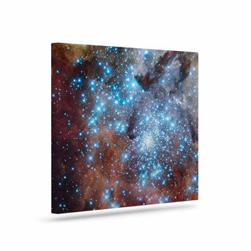"Suzanne Carter ""Star Cluster"" Blue Space Canvas Art"