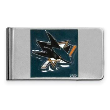 Nhl San Jose Sharks Steel Money Clip