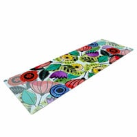 "Famenxt ""Fresh Spring Flowers"" Multicolor Floral Yoga Mat"
