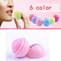 New Makeup Round candy color Moisturizing lip balm Natural Plant Sphere lip gloss Lipstick Fruit Embellish lip smacker