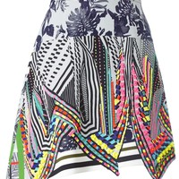 Multicolour Asymmetric Aret Skirt