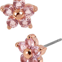BetseyJohnson.com - ROSE GOLD STAR STUD EARRING PINK