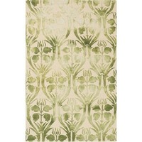 Watercolor Floret Green Rug