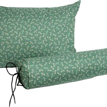 J-Life Tombo Teal Buckwheat Hull Pillow