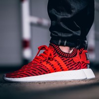 Best Online Sale Adidas NMD R2 Primeknit Blue BB2910 1 Boost Sport Running Shoes Classic Casual Shoes Sneakers