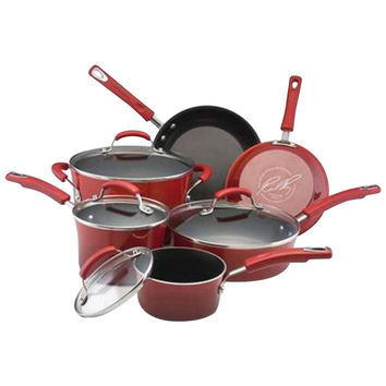 Rachael Ray Hard Enamel Non-Stick 10 Piece Cookware Set