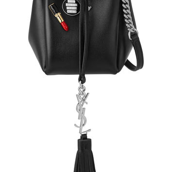 Saint Laurent - Monogramme Bourse mini embellished leather bucket bag