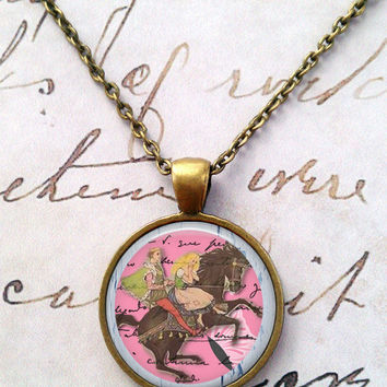 Fairy Tales Necklace,  Horse Pendant, Fairy Tale Necklace, Steampunk, Once Upon a Time T617
