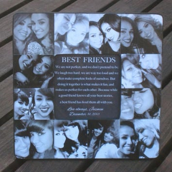 "Personalized Sister Gift, Maid of Honor Picture Frame, Custom Collage Bridesmaid Frame, Best Friends Gift Frame, Parent Gift, 8"" x 8"""