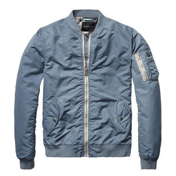 Parisian Blue Summer Bomber Jacket