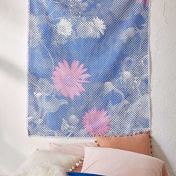 Pixelated Floral Tapestry | Urban Outfitters