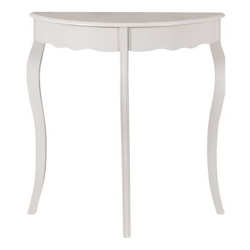 "Accent Table - 31""L / Antique White Hall Console"