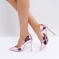 ALDO Stessy Rose Gold Point Court Shoes at asos.com
