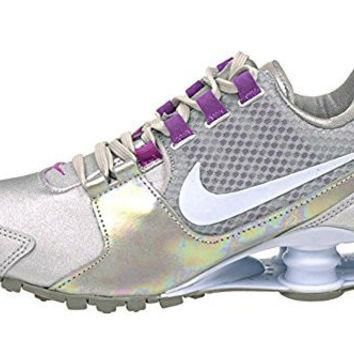 NIKE W SHOX AVENUE SE, WOMENS RUNNING SHOES, METALLIC SILVER/BLUE TINT-HYPER VIOLET, 7