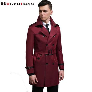 spring trench coat men windbreak short double button wind coat slim dust coat male turn collar bomber jacket s-6xl Holyrising
