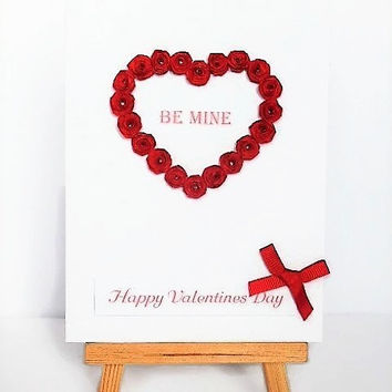 Valentines day card, love card, Valentine card, quilled card, greetings card, heart card, card for wife, card for girlfriend, card for him