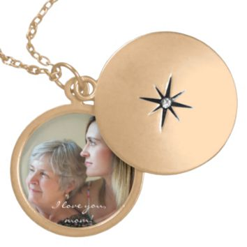 Personalized Gold Finish Locket Gifts For Mom