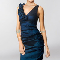Hot Strapless Beading Ruched Burgundy Evening Dress : dressoutletstore.co.uk, Wedding Dresses Outlet