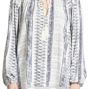 Olivaceous Printed Tunic Top
