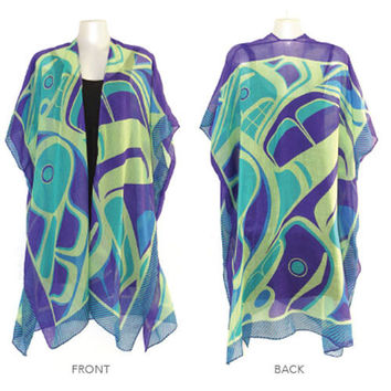 Sheer Wrap with The Messenger Design by Morgan Green