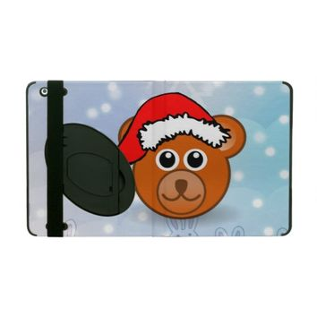 Christmas Bear iPad Folio Case