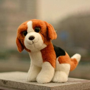 Cute Big Eyes Beagle Dog Stuffed Animal Plush Toy 9""