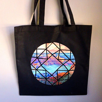 Canyon Crystal Cotton Tote Bag
