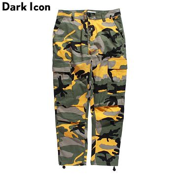 Camouflage Men's Cargo Pants Full Length Spring Multi Como Hip Hop Pants Men Women Street wear Trousers Men 8 Colors