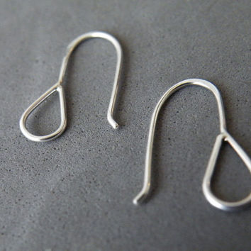Minimalist Drop Earrings Sterling Silver Earrings Dangle Earrings by SteamyLab