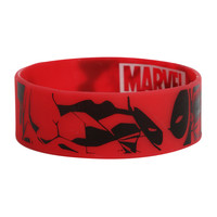 Marvel Deadpool Comic Rubber Bracelet