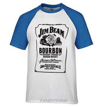 Jim Beam Men's Classic T-Shirt men t shirt summer clothes ringer t shirt