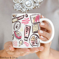 Makeup All Over Mug - Makeup Fashion Mug - Q0014