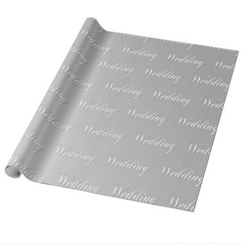 Wedding (silver) wrapping paper