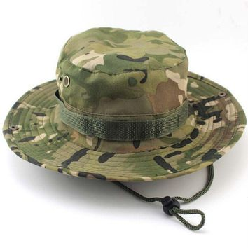 Casual Bucket Hat Fishing Hunting Boonie Cap Unisex Military Camo Wide  Comfortable Brim Outdoor 1PC  Fashion Hot