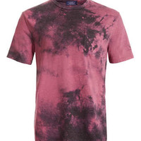 RED DOUBLE WASHED T-SHIRT - Men's T-Shirts & Vests - Clothing