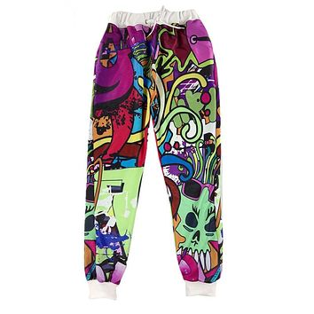 Brand Design Men/Women Graffiti 3D Print Joggers Sweatpants Hip hop Funny Trousers Pants
