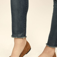 Lucille Tan Suede Pointed Flats