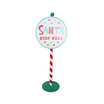 Santa Stops Here Standing Sign - Wondershop™