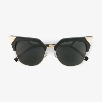 IRIDIA CAT-EYE SUNGLASSES WITH GOLD-TONE DETAILING
