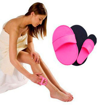 New Style Smooth Leg Arm Skin Pads Face Upper Lip Hair Removal Exfoliator Set