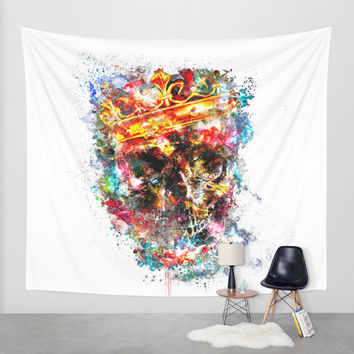 King Dusty Wall Tapestry by HappyMelvin