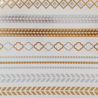 Grecian Gold & Silver Tattoo Sheet