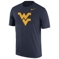 Men's Nike Navy West Virginia Mountaineers Logo Legend Dri-FIT Performance T-Shirt
