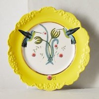 Lou Rota Nature Table Dessert Plate in Yellow Size: One Size Dinnerware