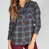 Full Tilt Vintage Womens Flannel Shirt Multi  In Sizes