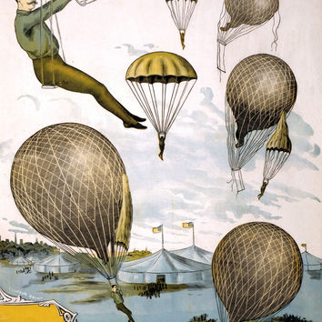 Aerial Balloon Performance Circus Poster