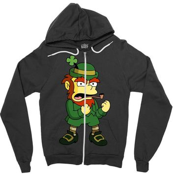 happy saint patrick day simpson 2 Zipper Hoodie